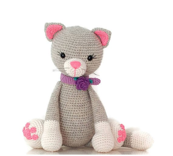 Häkeln Sie Katze Tier Kuscheltiere Amigurumi Kitty häkeln