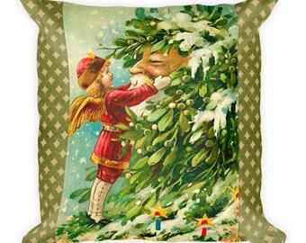 Christmas Santa Claus Old World Santa Square Pillow Accent Pillow Throw Pillow Renee Davenport Version 1
