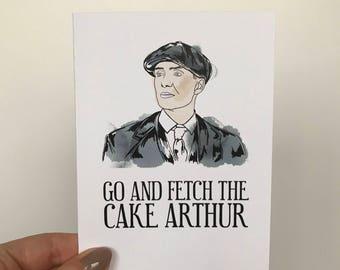 Peaky Blinders Birthday Card   Go & Fetch The Cake Arthur