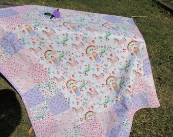 Princes and unicorn blanket