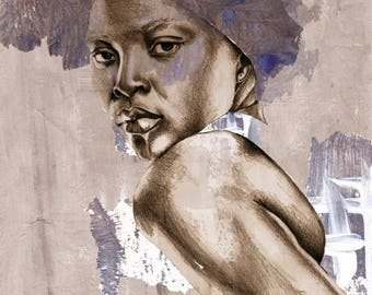 Illustration of African beauty