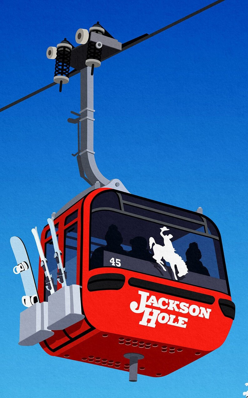 Jackson Hole Bridger gondola poster