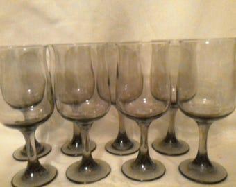 Vintage Set of  8 Libbey Rock-Sharpe Connoisseur Goblets