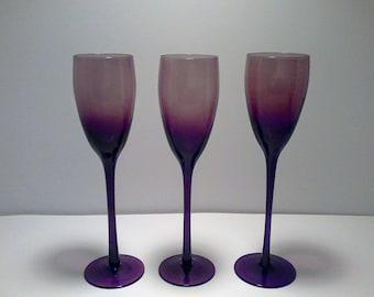 Vintage Amethyst Wine Glasses