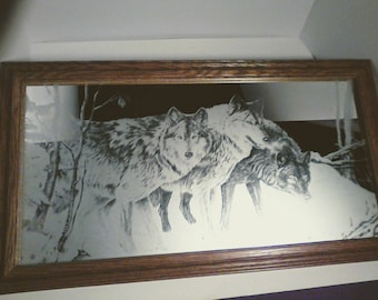 """High Definition Acid Etched Mirror Decor """" Out of The Shadows """""""