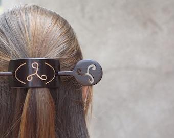 Floral-Petal Filigree Bride Head Fork Bun Holder Hair Vine Pin for Women SilverRoseGold Brass ButterflyLeafStarFlower Girl Hair Pick