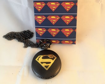 Superman Pocket Watch with free gift bag