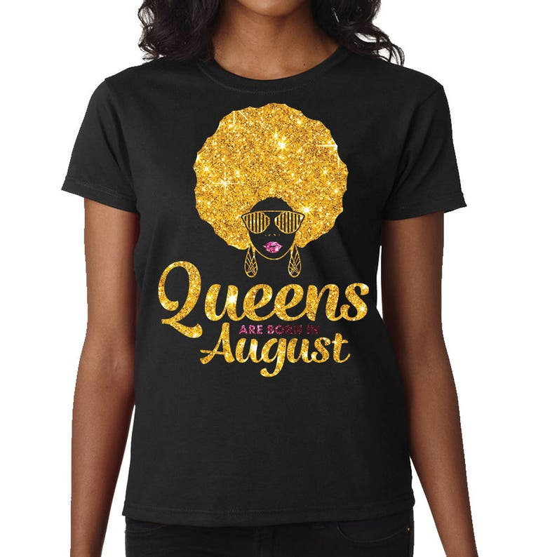 bb960d284c898c Queens Are Born In August Shirt August Birthday T-Shirt | Etsy