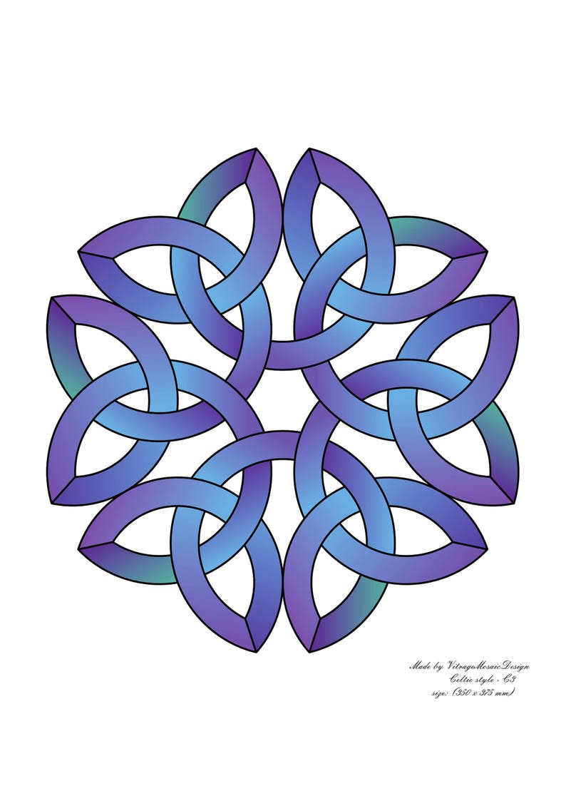 PDF pattern stained glass Celtic style