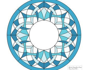 Stained glass pattern frame PDF
