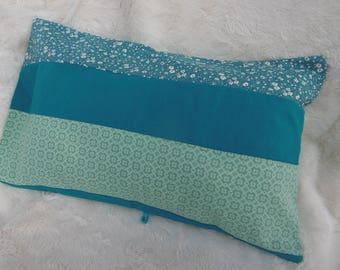 Turquoise rectangle cushion