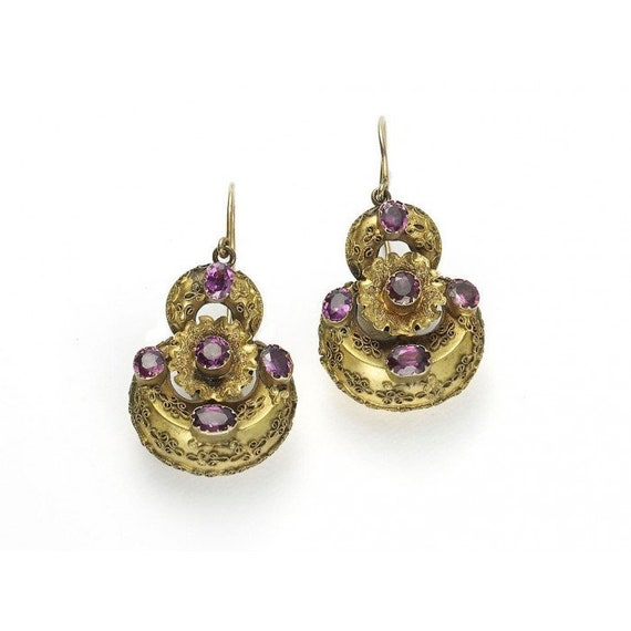 Victorian Garnet Earrings