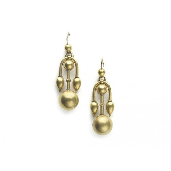 Victorian Gold Earrings - image 1