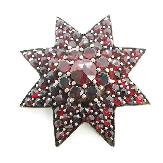 Garnet Star Brooch | Circa 1890