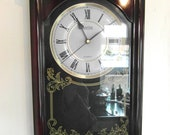 1990s ACCTIM Quartz Wall Clock - Westminster Chimes - Missing The Pendulum.