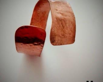 Χειροποίητο σφυρήλατο βραχιόλι -Handmade hammered copper bracelet