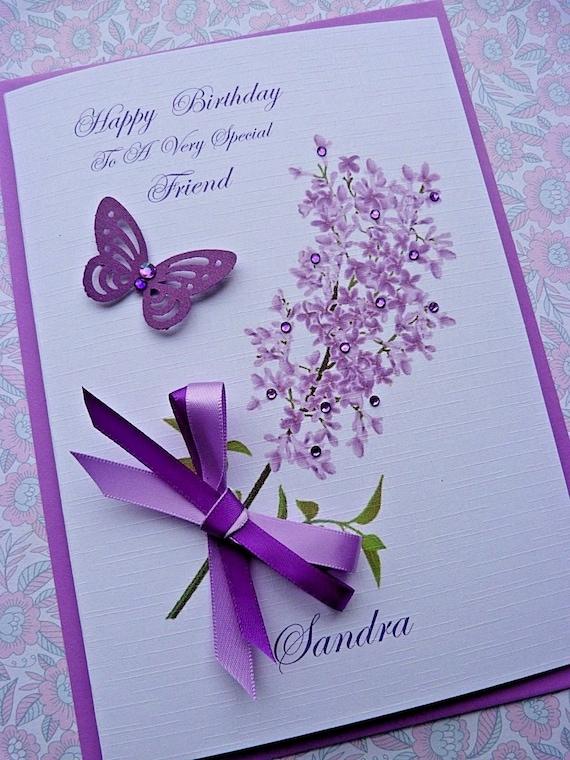 Personalised birthday card daughter granddaughter butterfly loving words
