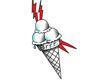 0e1c61be113 Gucci Mane Ice Cream Temporary Tattoo
