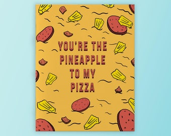 d4a5703182a Pineapple to my pizza valentines day card (3 pack)