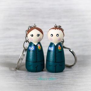 Thankyou NHS  Keepsake// Wish Bracelet Plus Peg doll nuses ornament