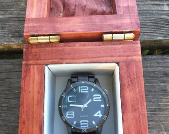 Watch Box, Fathers Day Gift from Daughter / Son, Personalized, Groomsmen, Wedding, Anniversary, Wooden, Wood