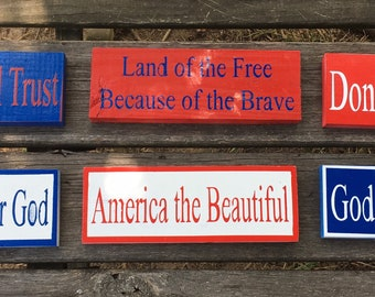 American Signs, Wall Hanging, Home Decor, Handmade, Patriotic, Customizable, Living Room, 4th of July