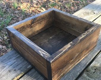 Wooden Planter Box, Wood, Large, Indoor, Outdoor, Centerpiece, Handmade
