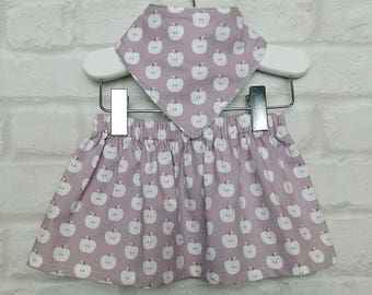 Dusky Pink Apple Cotton Skirt