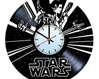 Leia Organa Vinyl Record Wall Clock, Wall Clock Modern, Star Wars Vinyl Wall Clock, Wall Clock Vintage, Han Solo Gift, Birthday Gift