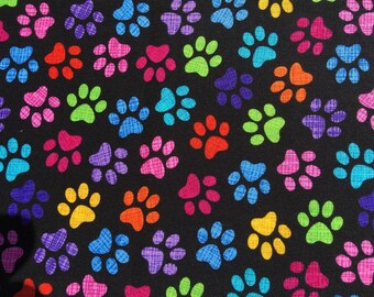 Funny funky Unicorn Pegasus Rainbow Cats Timeless Treasures 100/% Cotton Fabric perfect for making masks bandanas /& apparel
