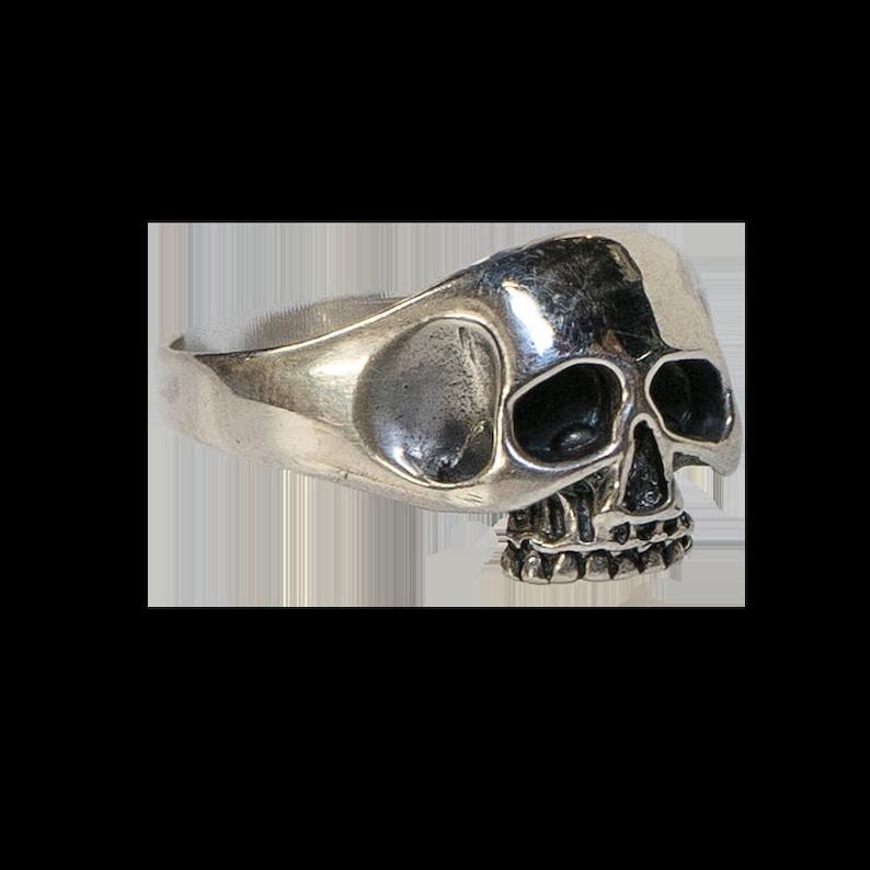 feeanddave Biker Gothic Viking Pagan M Skull Ring .925 solid sterling silver  r Metal Z