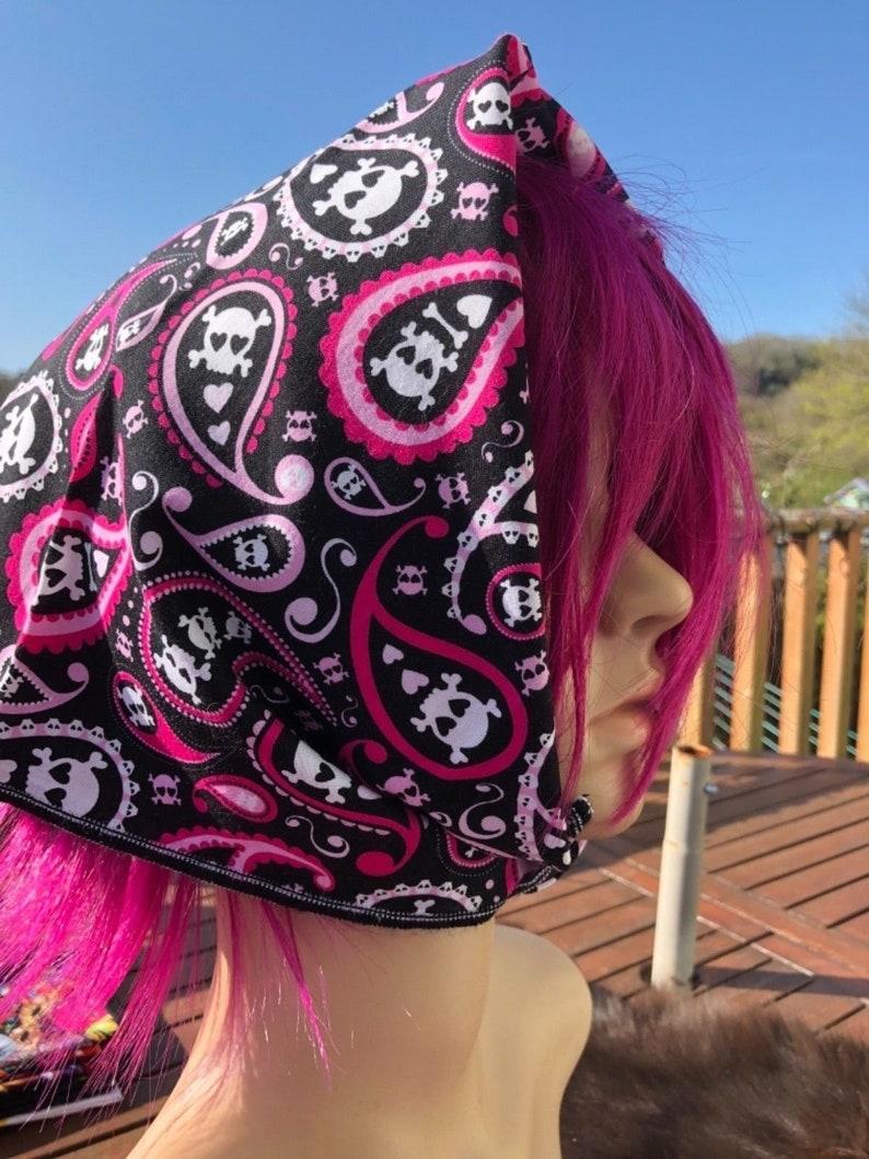 Liquorice All Sorts Sweets Bandana Head Band scarf Gothic  Biker Dog Feeanddave