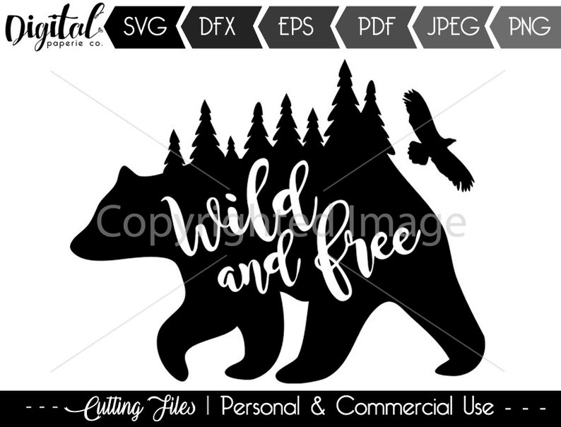 Wild And Free Svg File Etsy