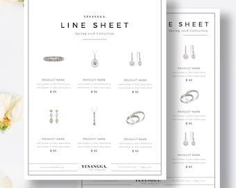 Wholesale Line Sheet Etsy - Wholesale line sheet template