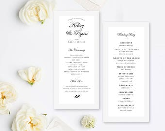 Printable Ticket Wedding Program Movie Wedding Double - Photoshop wedding program template