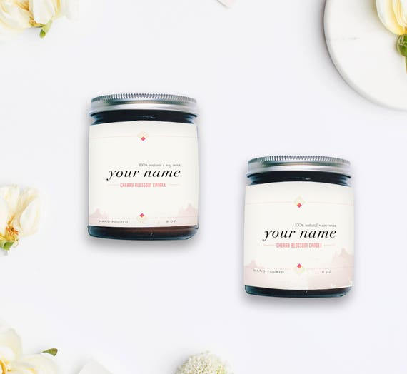 Editable Label Template Bottle Candle Design