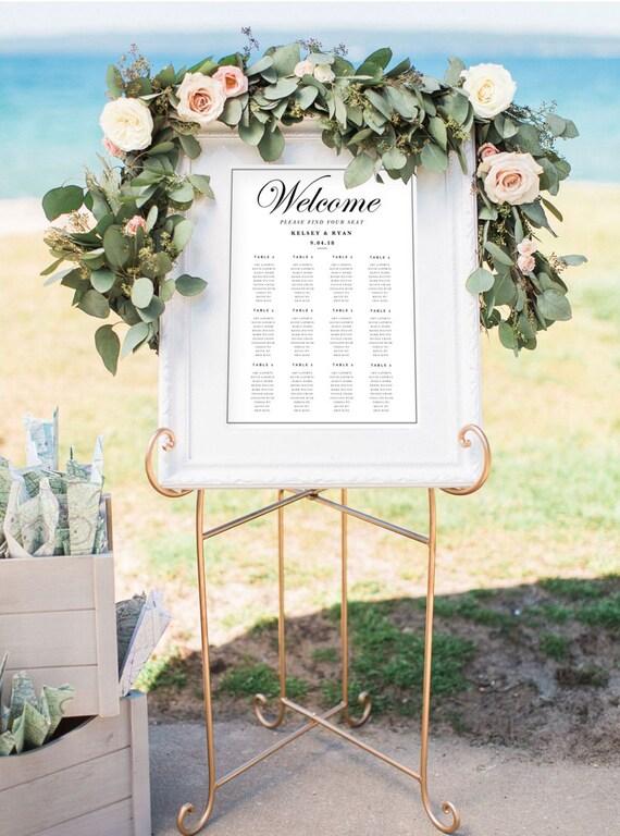 3 wedding seating chart templates editable wedding table etsy