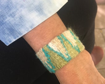 handwoven cuff bracelet