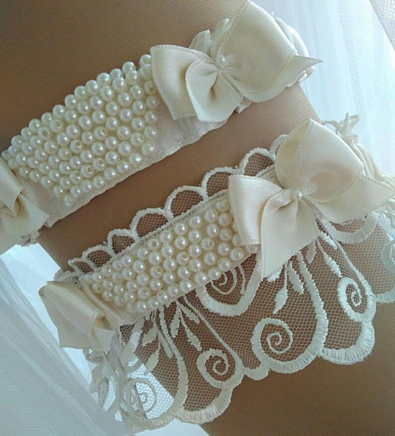 Lingerie garter Toss garter set Garter For Wedding Bridal Garter Bridal Lingerie Ivory Lace Garter Ivory Ivory Garter Set
