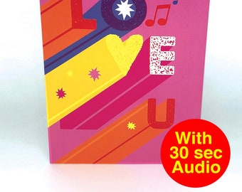 Recordable Love Cards - L O V E - With 30 second Audio