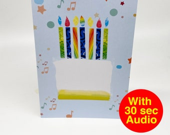 Recordable Audio Talkie Cards - Fancy Cake - With 30 second Audio