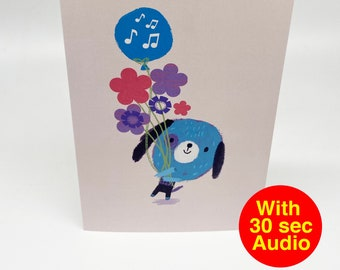 Recordable Audio Talkie Cards - Cutes Flower - With 30 second Audio