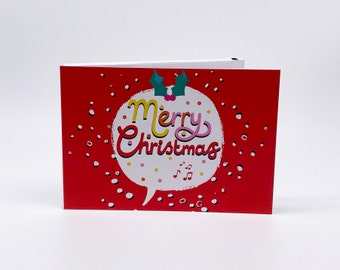 """Recordable 4"""" Video Christmas Cards - Xmas Speech - With 256mb memory"""