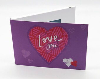 """Recordable 4"""" Video Mother's Day Cards - Love You - With 256mb memory"""
