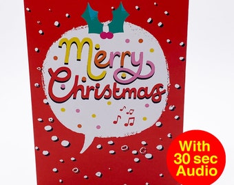 Recordable Audio Christmas Cards - Speech - With 30 second Audio