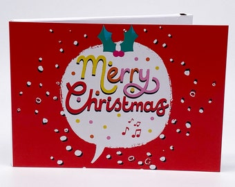 """Recordable 7"""" Video Christmas Cards - Xmas Speech - With 256mb memory"""