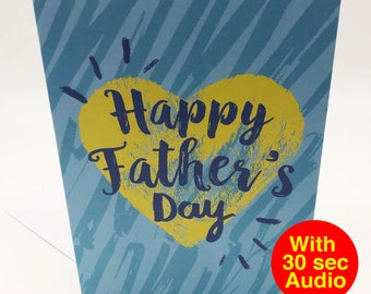 Recordable Audio Father's Day Cards - Speech - With 30 second Audio