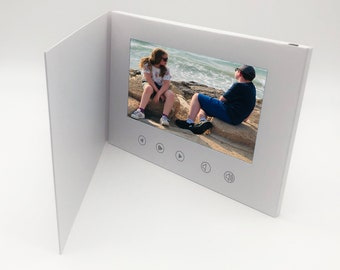 """Recordable Video Greeting Card - 7"""" HD Screen"""