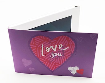 """Recordable 7"""" Video Mother's Day Cards - Love You  - With 256mb memory"""