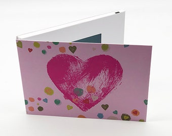 """Recordable 4"""" Video Mother's Day Cards - Valentine Pink Heart - With 256mb memory"""